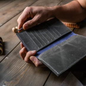 handmade long wallet