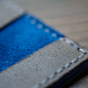wallet with suede