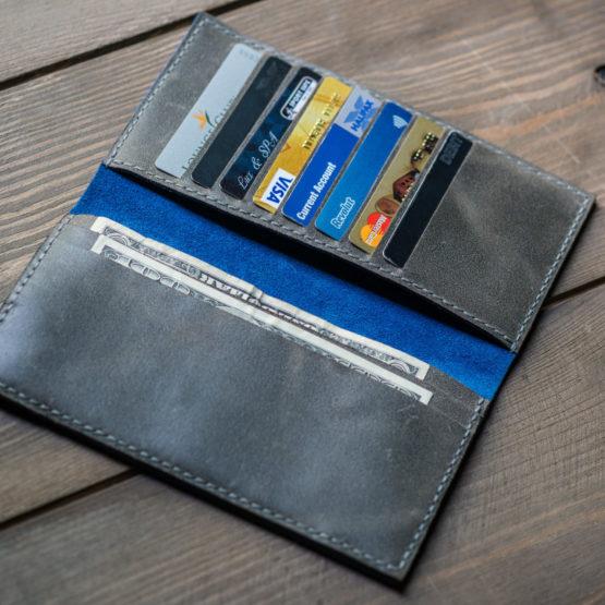 Grey long wallet