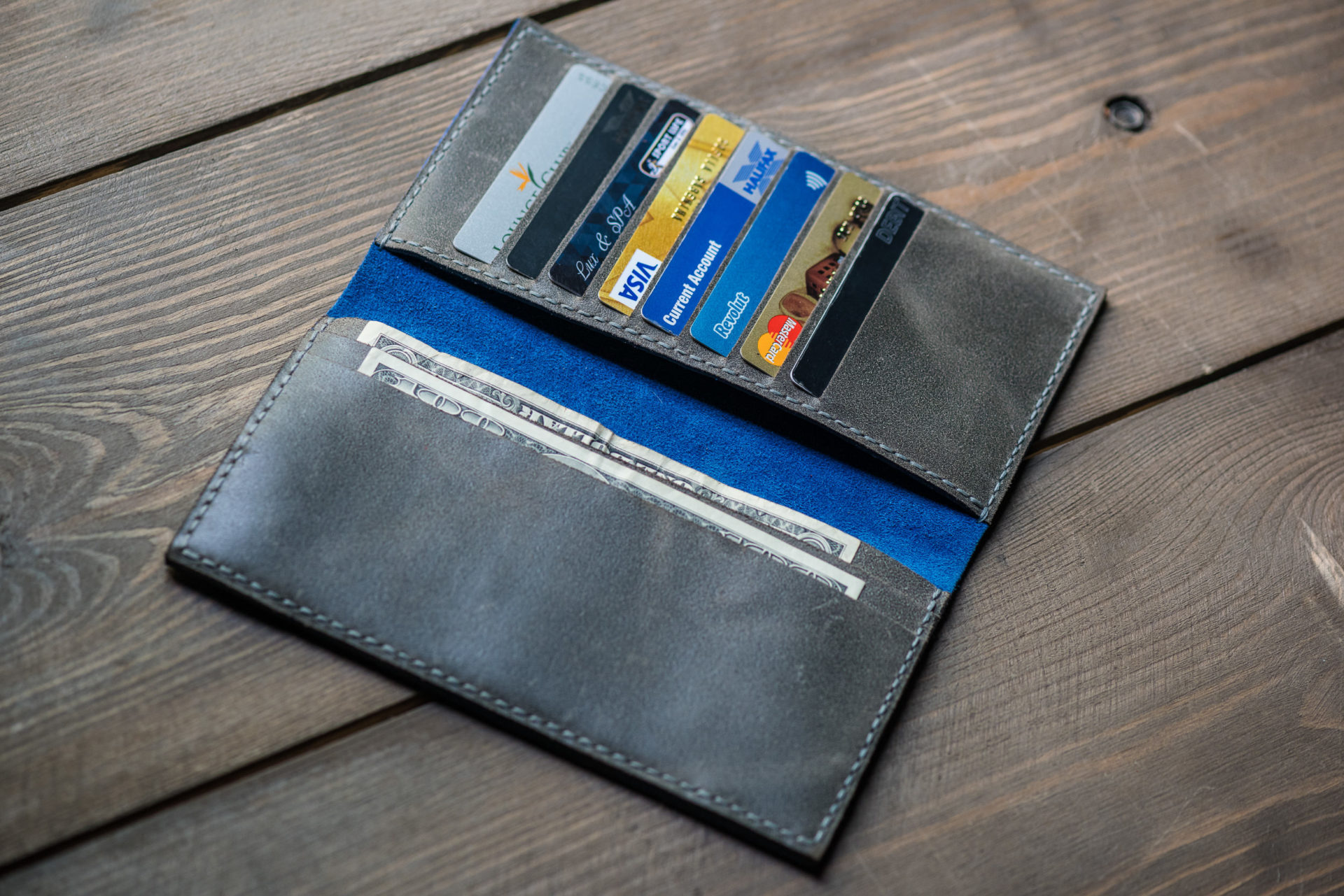 Grey long wallet