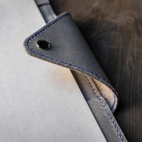 hand stitched leather