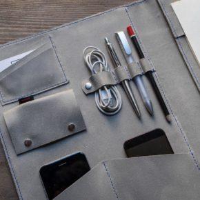 grey padfolio
