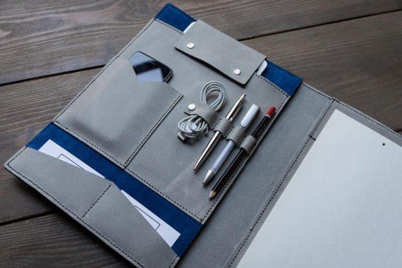 handmade leather folio