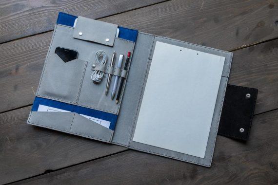custom leather folio