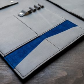 leather and suede folder