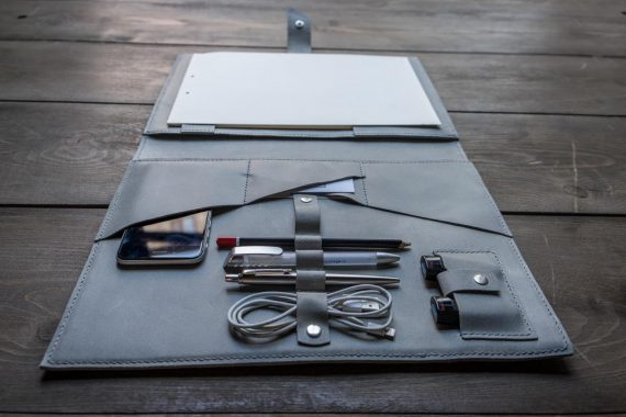 leather business folder