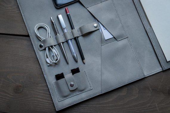 custom leather folder