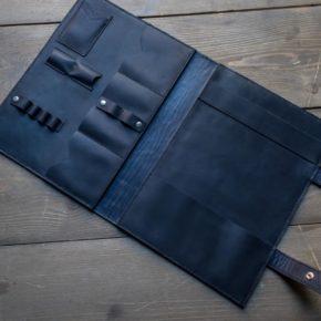 italian leather folder