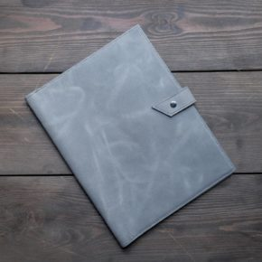 handmade leather business folder