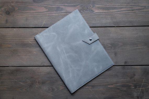 handmade leather business folder