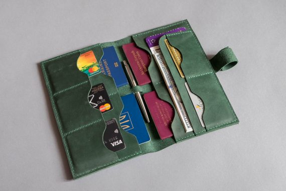 leather wallet for passport