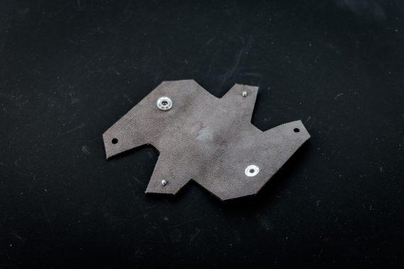 origami leather keychain