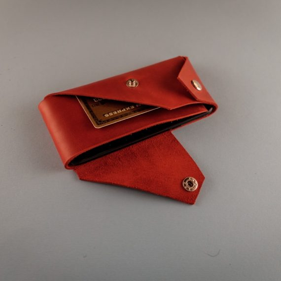 red leather iPhone X case