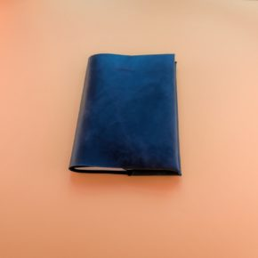 blue leather journal cover