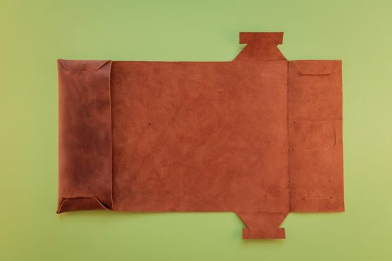 origami leather journal cover