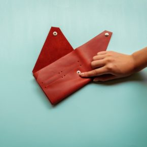 folding leather passport holder