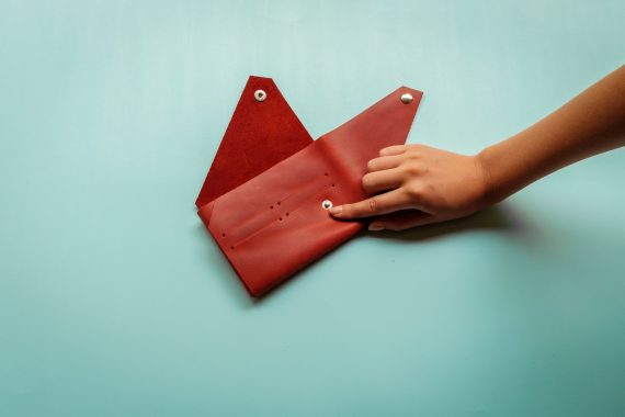 folding leather passport holder