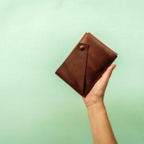 cognac travel wallet