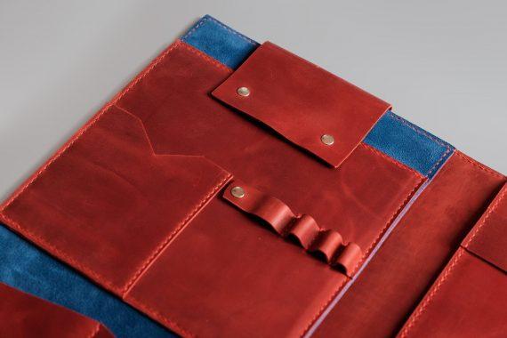 leather ipad folder