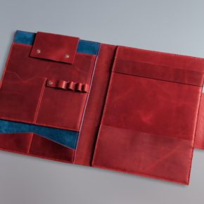 superman folder leather