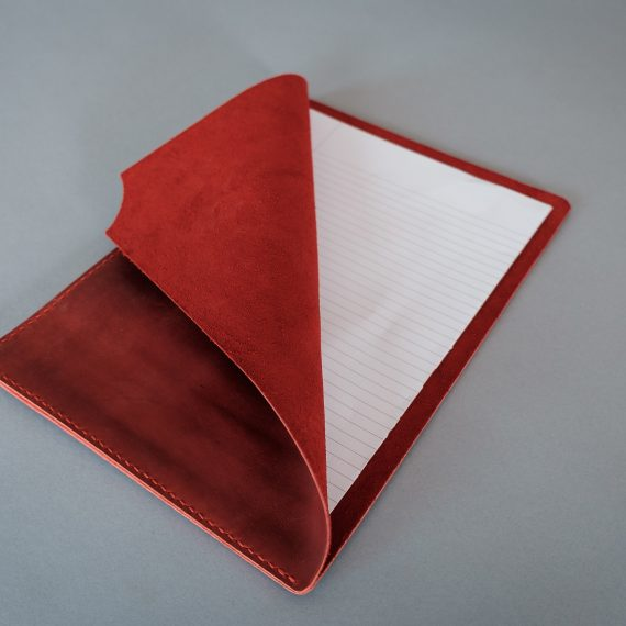 red document holder