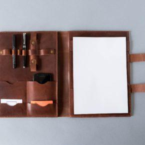 leather business folder