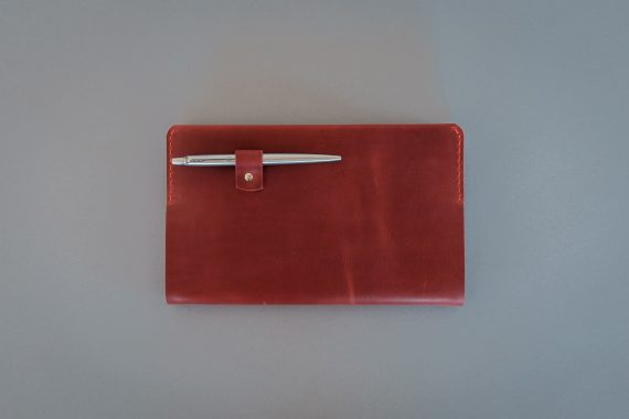 notbook cover with pen loop