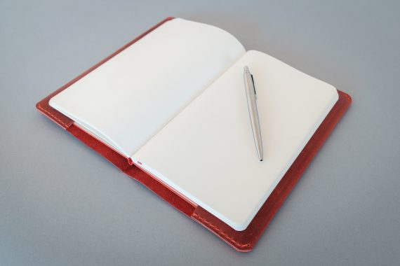 red moleskine cover