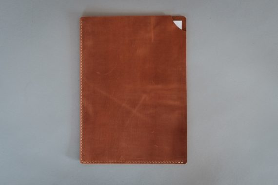 cognac leather document holder
