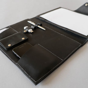 handmade leather folder