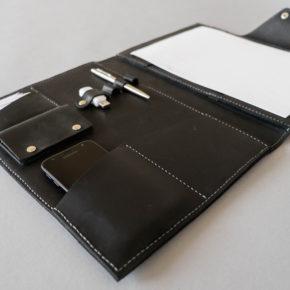 handmade leather folder